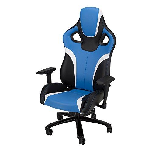 Skylab Performance Seating envejecido nus1001de So Galaxy XL–Racing de Style Gaming Chair by F.C, Blue/Black/White