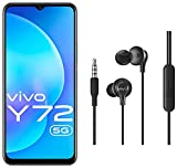 Vivo Y72 5G (Prism Magic, 8GB RAM, 128GB Storage) with No Cost EMI/Additional Exchange Offers + vivo Color Wired Earphones with Mic and 3.5mm Jack (Black)