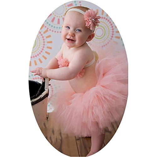 Yingm Ropa de Fotografía para Bebés Bebé recién Nacido Apoyo de la fotografía del Traje de Falda Infantil del Arco-Nudo Trajes del Vestido del tutú con Diadema Bebé Recién Nacido