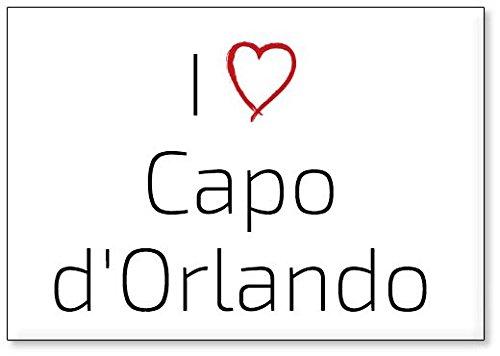 I Love Capo d'Orlando, fridge magnet (design 1)