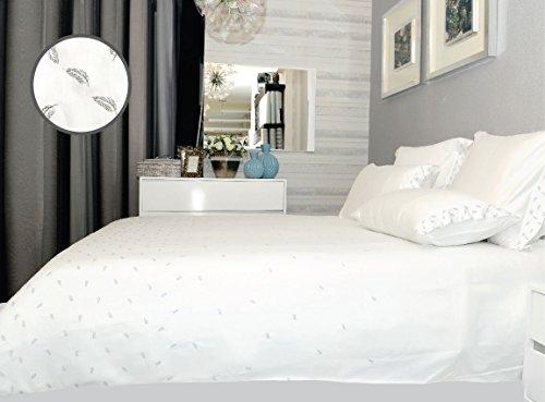 Salomé Prestige Parure House de Couette Satin de Coton Plumes brodée-240x260