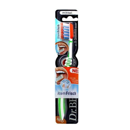 Dr.BEST Atemfrisch Zahnbürste, Mittel (12 x 1 Stück), Entfernt Mundgeruch verursachende Bakterien