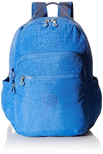 Kipling SEOUL Mochila tipo casual, 44 cm, 27 liters, Azul (Wave Blue)