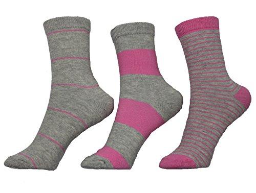 Melton Kindersocken 3er Pack Mädchen Strümpfe Socken (880101/514) Cerise Gr. 20/22