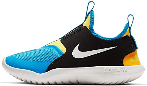 Nike Kids' Preschool Flex Runner Running Shoes (3, Black/Yellow/Royal)
