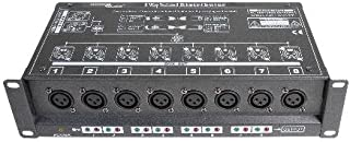 8 Way Isolated DMX Splitter - 3-Pin to 3-Pin