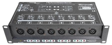 Best Prices! 8 Way Isolated DMX Splitter - 3-Pin to 3-Pin