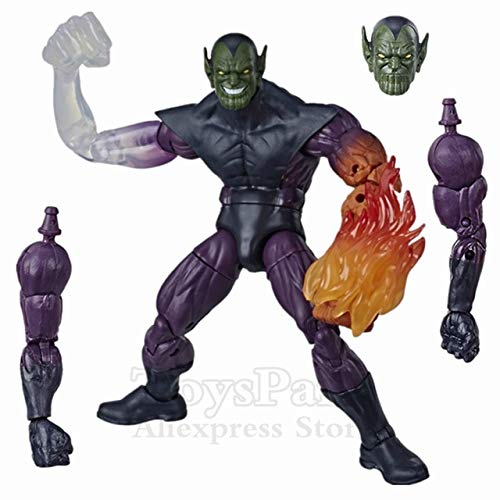 Jwyq Original ML Legends Fantastic 4 Human Torch Invisible Thing Doctor Doom Hulker Lady 6'Figura de accin Super Skrull BAF Wave ToysSuper Skrull BAF
