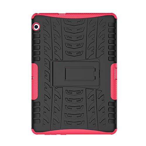 Skytar Funda para Huawei MediaPad T3 10,Hybrid Dura Layer Protección de Policarbonato Duro + TPU Silicona Protección Cover Carcasa para Huawei MediaPad T3 10 de 9,6 Pulgadas Tablet Funda,Hot Rosa