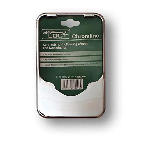 EASY CLICK 11415 Kennzeichenhalter, Chrom, 19.50 x 12.50 x 1.50 cm