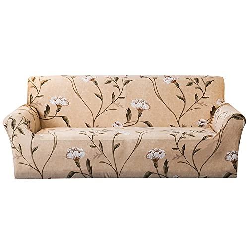 WXQY Funda de sofá Impresa Impermeable en Miniatura, patrón de Flores Amarillo Claro Antideslizante Antideslizante Funda de sofá Envuelta herméticamente A1 2 plazas