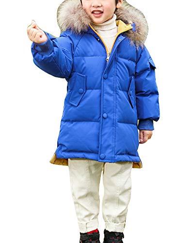 YAOTT Niños Reversible Abrigo Parka con Capucha de Invierno Caliente grueso Chaqueta acolchada con capucha de piel sintética