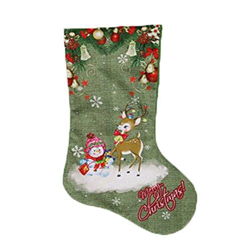 Grün Socken Decration Baum Home Decration Candy Geschenk Tüte, GR3, GR3