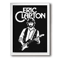 Eric Clapton エリック・クラプトン アートパネル 装飾画 額縁付き インテリア 壁掛け シンプル 壁飾り 家の壁のアートパネル 装飾画 北欧 現代 ウォールアート 木製の枠 アート 人気 玄関 リビングと寝室の飾り 部屋飾り おしゃれ 写真 ソファの背景絵画 贈り物
