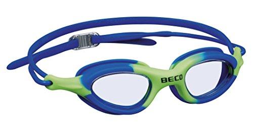 Beco Unisex Jugend Biarritz Schwimmbrille, blau/grün, One Size