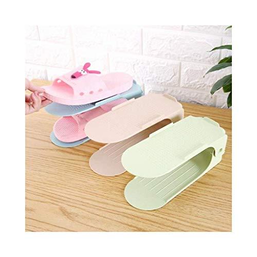 Estante de Zapatos, Gabinete de Zapatos a Prueba de Polvo Slotes de Zapato Ajustables, Ahorro de Espacio Zapatos de Almacenamiento Organizador 8 PCS (Color: 8pcs - Azul) (Color : 8pcs - Beige)