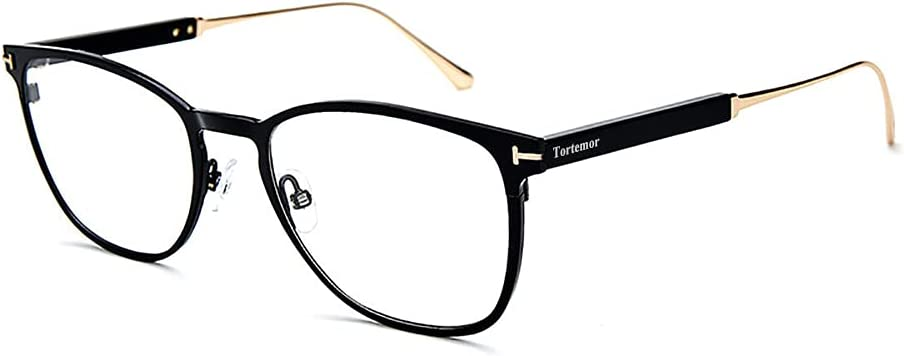 Tortemor Time sale Don't miss the campaign Blue Light Blocking Comfortable Retro Round Eyeglasses