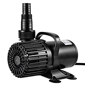 VIVOSUN 1600 GPH Submersible Water Pump100W Ultra Quiet Pump with 20.3ft Power Cord High Lift for Pond Waterfall Fish Tank Statuary Hydroponic
