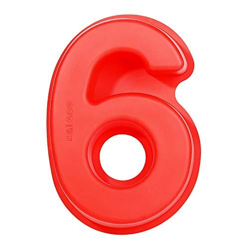 OeyeO Silicone Torta Stampo,Torte da 9 Numeri Fai da Te,Stampo da Forno per Mousse, Compleanno, Anniversario di Matrimonio
