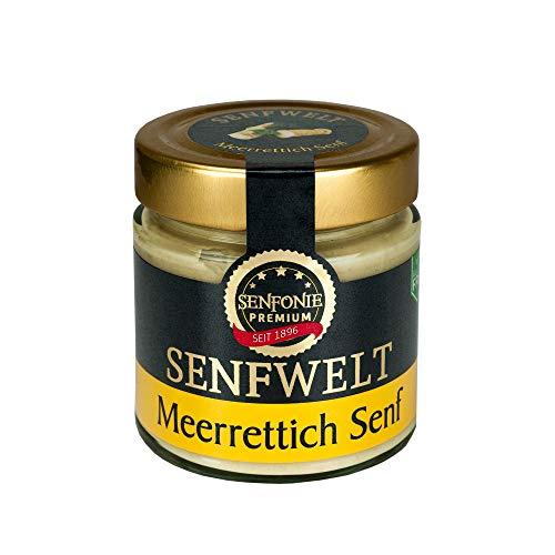 Altenburger Original Senfonie Premium Meerrettich Senf 180 ml, pikant-scharfer Senf-Genuss passend zu deftigen Speisen, auch als Dip geeignet