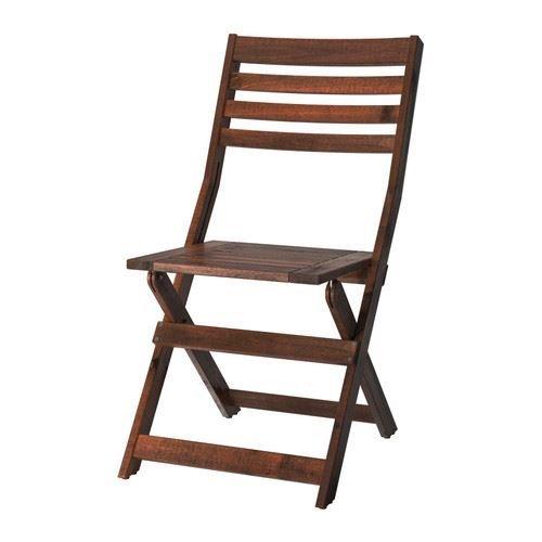 ÄPPLARÖ - Stuhl, Outdoor, klappbar, braun gebeizt