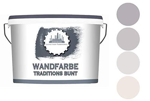 Lausitzer Farbwerke Dispersionsfarbe Taupe matt - Wandfarbe für innen QUALITÄT + EINFACHE ANWENDUNG (5 L, Plum Taupe 4)