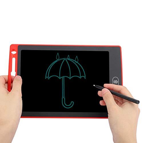 Tablero de escritura LCD Tablero de escritura flexible Tablero de escritura Real 6 colores Protección ocular Suave para niños(Gran rojo)