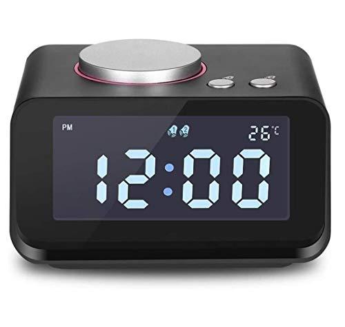 BSJZ Smart Digital Alarm Clock, Multi-Function FM Radio Alarm Clock, Dual USB AUX Function Connect to MP3 MP4 PDA