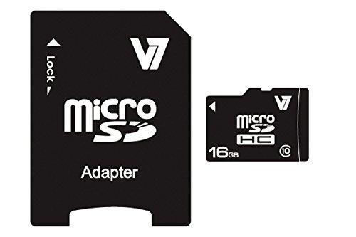V7 VAMSDH16GCL10R-2E V7 Micro SDHC 16GB Classe 10 + adattatore SD