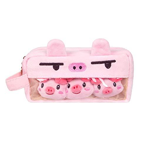 筆箱 おしゃれ 豚 筆箱 シンプル 透明 クリアポーチ かわいい ペン ケース 人気 ペンケース 大容量 女の子 韓国