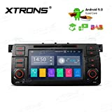 XTRONS 7' Android Autoradio mit Touchscreen Android 9.0 Quad Core DVD Player Full RCA Ausgang WiFi 4G Bluetooth 2GB RAM 16GB ROM DAB OBD2 Lenkradsteuerung DAB+ OBD FÜR BMW E46/Rover 75/MG...