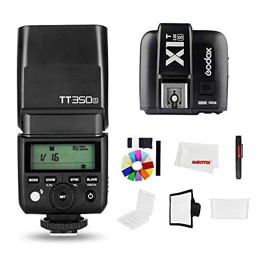 Godox TT350S 2.4G inalámbrico TTL Mini cámara estroboscópica flash luz HSS GN36 +X1T-S transmisor Speedlite para cámara réflex digital Sony A7 A6000 A6500 (TT350S+X1T-S)