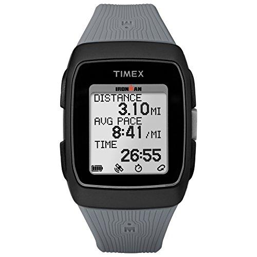 Timex Unisex TW5M11800 Ironman GPS Black/Gray Silicone Strap Watch