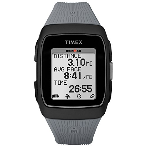 Timex Unisex TW5M11800 Ironman GPS Black/Gray Silicone Strap Watch