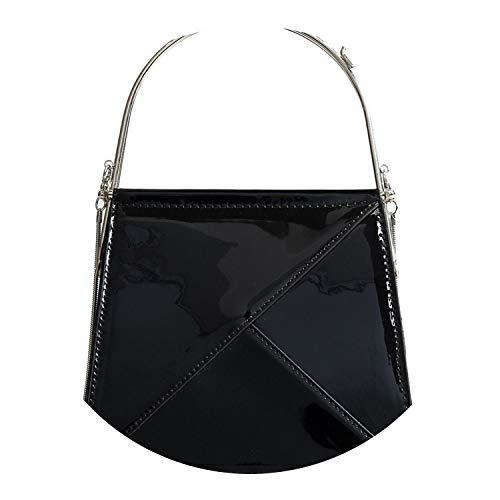 en Bolsos de lujo de las mujeres bolsos de diseñador Fe cuero bolsos de hombro de gran capacidad casual bolsa de mensajero, color Negro, talla Talla única