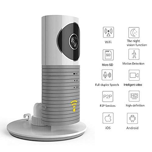 HLJ Cámara con Visión Nocturna Clever Infrarrojos Perro for los niños/Mascotas/niñera Wi-Fi Monitor de Seguridad Inteligente Interiores