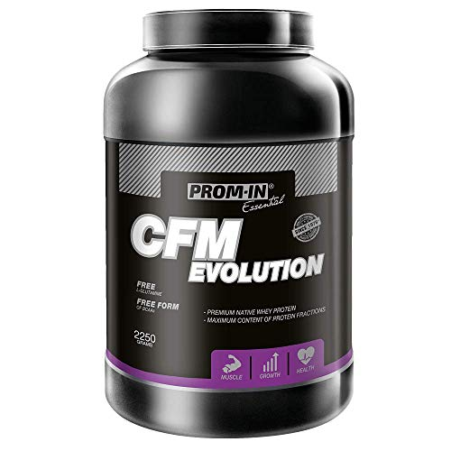 Whey Protein / Proteína de suero de leche nativa de alto porcentaje de primera calidad CFM EVOLUTION fabricada por método CFM (Vainilla, 2250 g)
