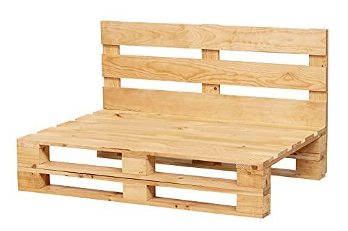 Sofa DE PALETS Lijado Y Cepillado - Interior/Exterior Nuevo Sillon PALETS/Sofa para Patio (120cm X 80cm, Pino)