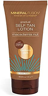 Mineral Fusion Macadamia Nut Gradual Self Tan Lotion, Medium Dark, 5 Ounce (Packaging May Vary)