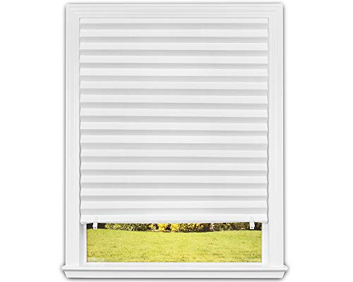 "Original Light Filtering Pleated Paper Shade White, 36"" x 72"", 6-Pack"