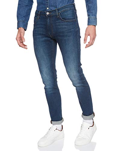 Lee Herren Tapered' Tapered Fit Jeans Luke', Blau (Dark Diamond Ft), 34W / 34L (Herstellergröße: 34W / 34L)