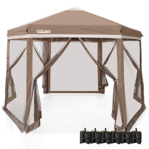 COOL Spot 6 Sided Hexagon Pop Up Gazebo Tent...