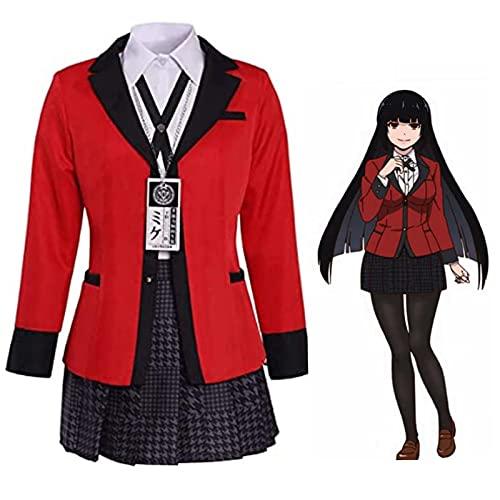 GIMOCOOL Jabami Yumeko Disfraz de cosplay de Kakegurui Anime Uniforme Escuela Cosplay Rock, para juegos de rol, actuaciones en escenario o presentación de cómic