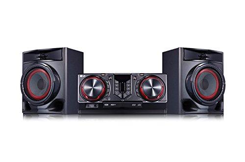 LG CJ44 Kompaktanlage (480 Watt, Bluetooth, USB, FM Radio) schwarz/rot