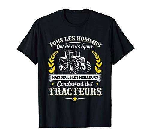 Homme J'Aime Ma Femme Et La Conduite D'Un Tracteur Agriculteur T-Shirt