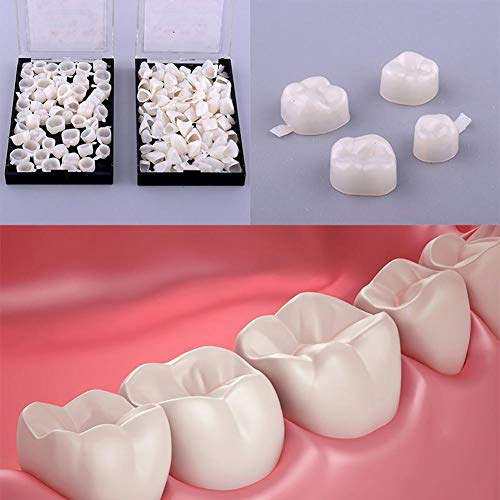 100pcs Dental Temporary Crown Veneers Material Anterior Front Back Molar Teeth by Superdental