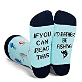 Funny Saying If You Can Read This I'd Rather Be Fishing Socks-Novelty Fish Fishing Socks Gifts For Men Fish lover Fisherman