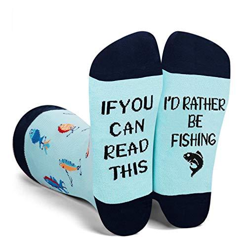 I'd Rather Be Fishing Funny Socks