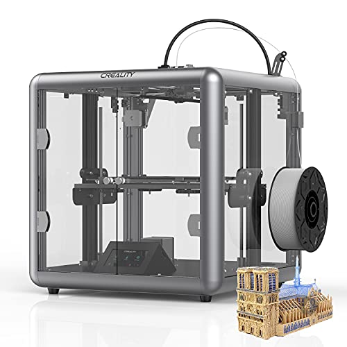 YILUFA CREALITY Ender 3d Printer Full Color Touch Screen Ultra-quiet Printer With Resume Printing Function Printing Size 220x220x250mm