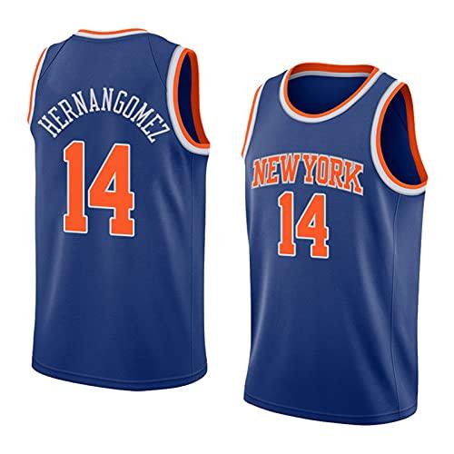 FHXY Hernangomez Knicks # 14 New Temporada Jersey de Baloncesto, Top Deportes de Cuello Redondo Transpirable, Jersey de Moda para jóvenes de Moda. XXL